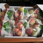 яблоки в пакетах